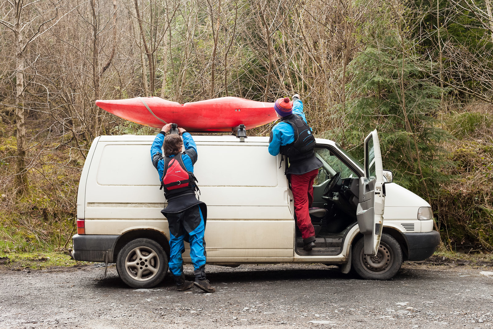 Kayaks On Van